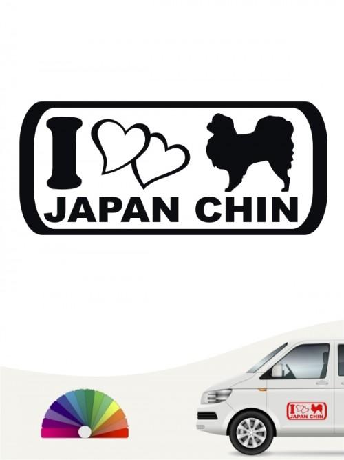 I Love Japan Chin Heckscheibensticker von anfalas.de