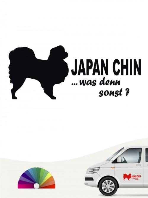 Japan Chin was denn sonst Heckscheibenaufkleber von anfalas.de