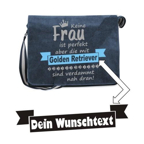 """Canvas Umhängetasche Spruch """"Keine Frau ist perfekt"""" von anfalas.de"""