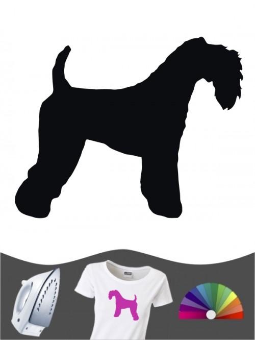 Kerry Blue Terrier 1 - Bügelbild