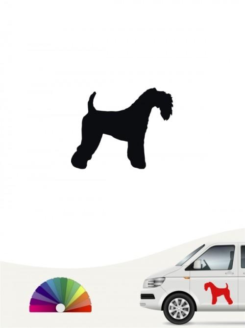 Kerry Blue Terrier Heckscheibenaufkleber von anfalas.de