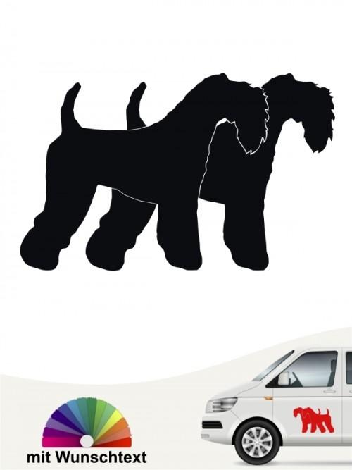 Kerry Blue Terrier Hundeaufkleber mit Wunschtext von anfalas.de