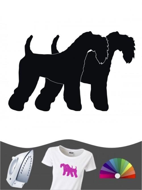 Kerry Blue Terrier 2 - Bügelbild