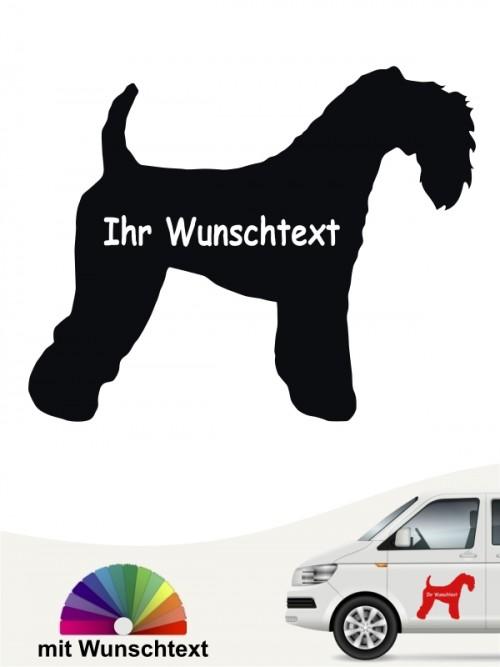 Kerry Blue Terrier Autosticker mit Wunschname von anfalas.de