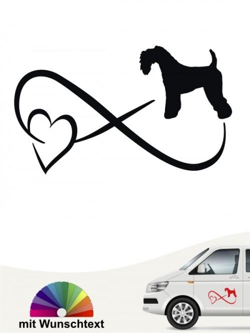 Kerry Blue Terrier Autoaufkleber von anfalas.de