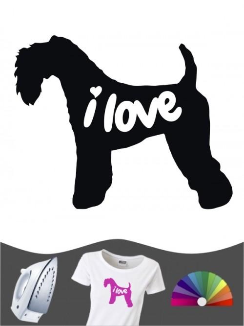 Kerry Blue Terrier 43 - Bügelbild
