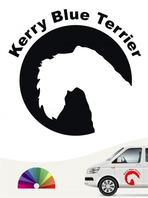 Kerry Blue Terrier Aufkleber von anfalas.de