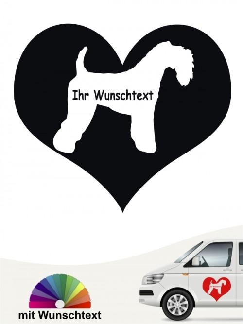 Kerry Blue Terrier Heckscheibenaufkleber mit Wunschname von anfalas.de
