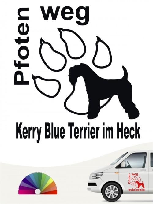 Kerry Blue Pfoten weg Autoaufkleber von anfalas.de