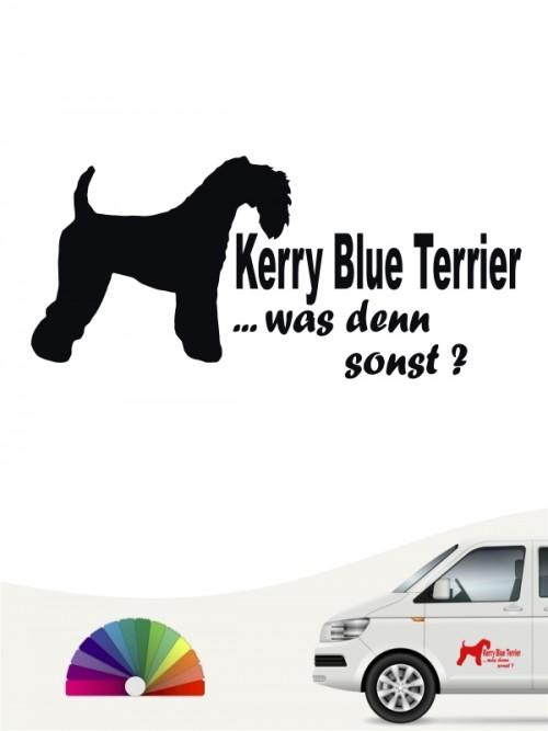 Kerry Blue Terrier was denn sonst Autosticker von anfalas.de