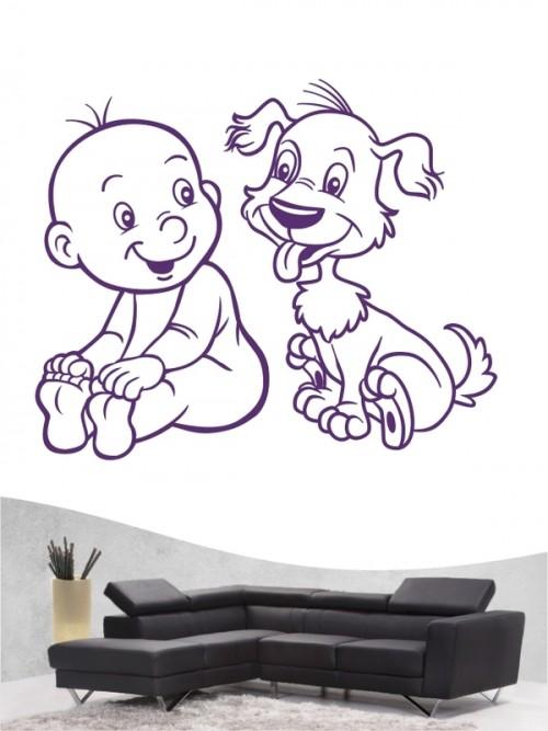 Kind & Hund 17 - Wandtattoo