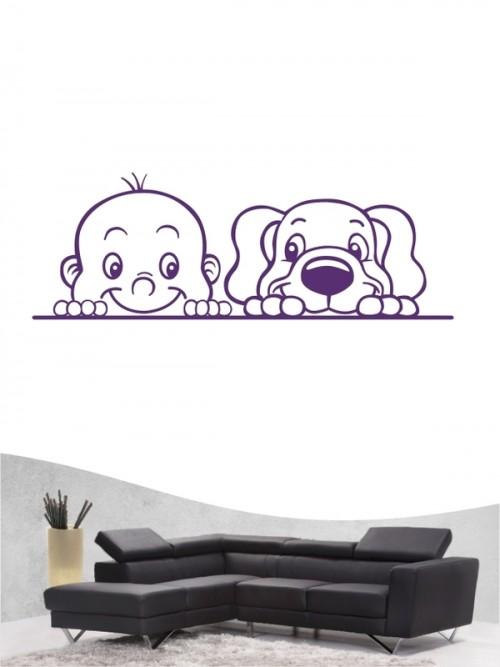 Kind & Hund 2 - Wandtattoo