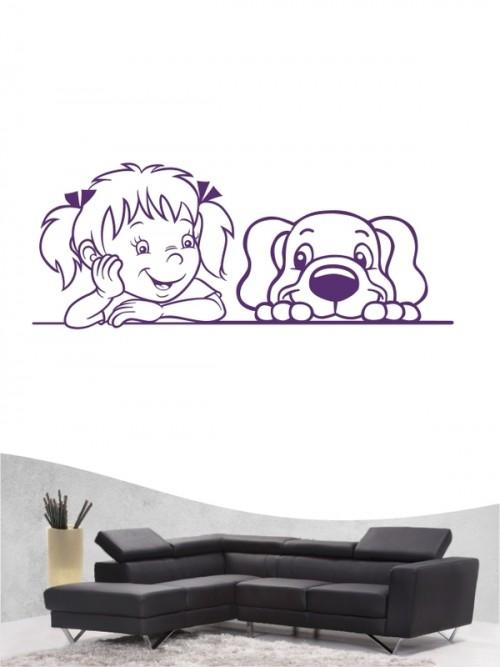 Kind & Hund 38 - Wandtattoo