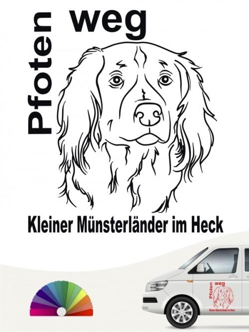 Pfoten weg Autoaufkleber kleiner Münsterländer von anfalas.de