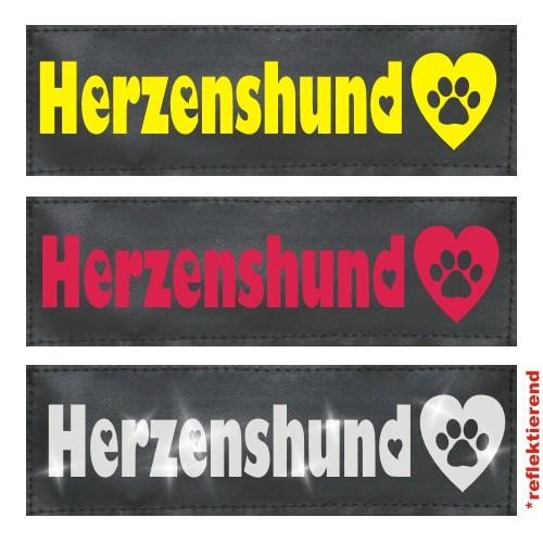 Klettlogo Herzenshund Beispielbild  1 Wunschlogo24.de