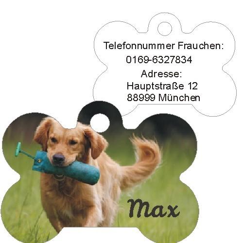Anfalas.de | Hundemarke vom eigenen Foto