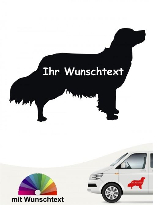 Kooikerhondje Autosticker mit Wunschname von anfalas.de