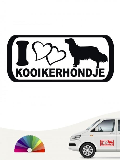 I Love Kooikerhondje Autoaufkleber von anfalas.de
