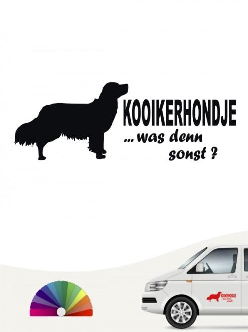 Kooikerhondje was denn sonst Heckscheibenaufkleber von anfalas.de