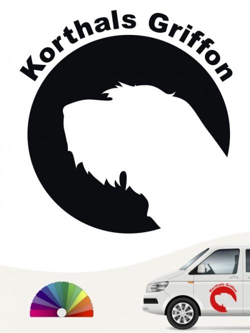 Korthals Griffon Aufkleber von anfalas.de