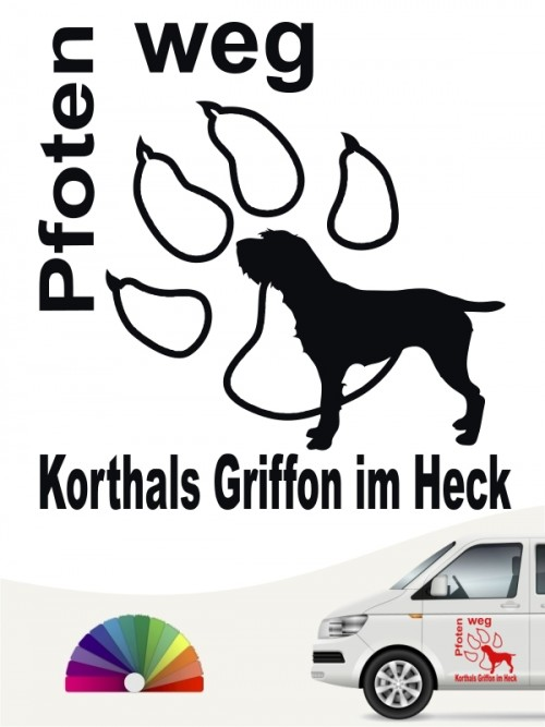 Korthals Griffon Pfoten weg Aufkleber von anfalas.de