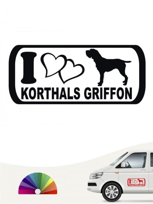 I Love Korthals Griffon Aufkleber von anfals.de