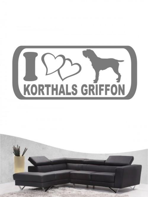 Korthals Griffon 6 - Wandtattoo