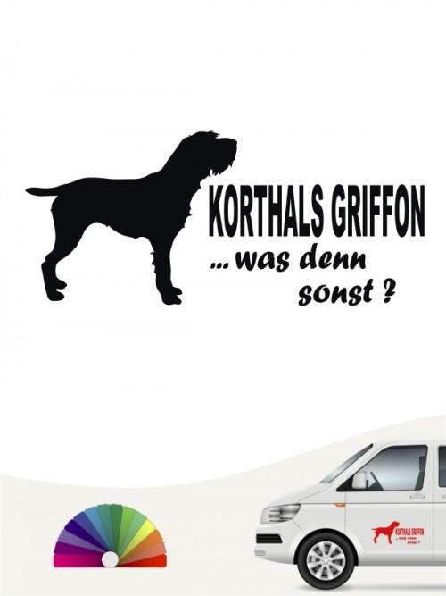 Korthals Griffon was denn sonst Sticker von anfalas.de
