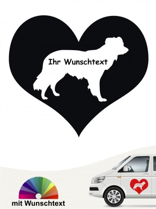 Kromfohrländer Gatthaar Herzmotiv mit Wunschname von anfalas.de