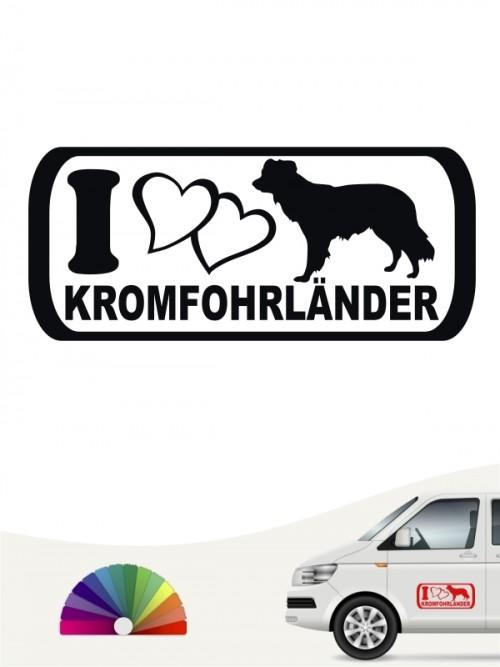 I Love Kromfohrländer Autoaufkleber von anfalas.de