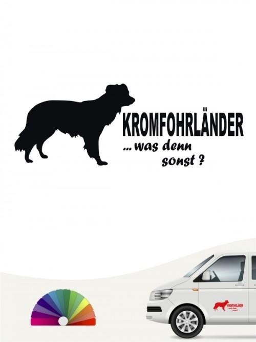Kromfohrländer Glatthaar was denn sonst Sticker von anfalas.de