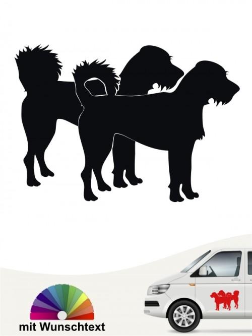 Hunde-Autoaufkleber Kromfohrländer Rauhhaar 2 von Anfalas.de