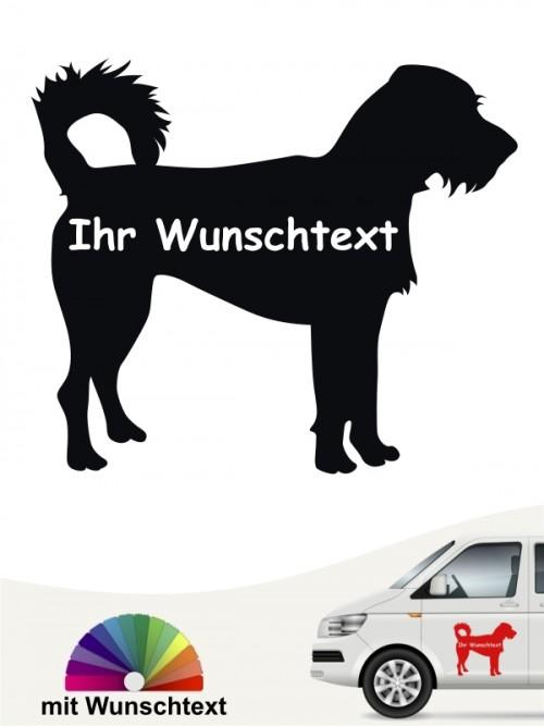 Hunde-Autoaufkleber Kromfohrländer Rauhhaar 3 von Anfalas.de