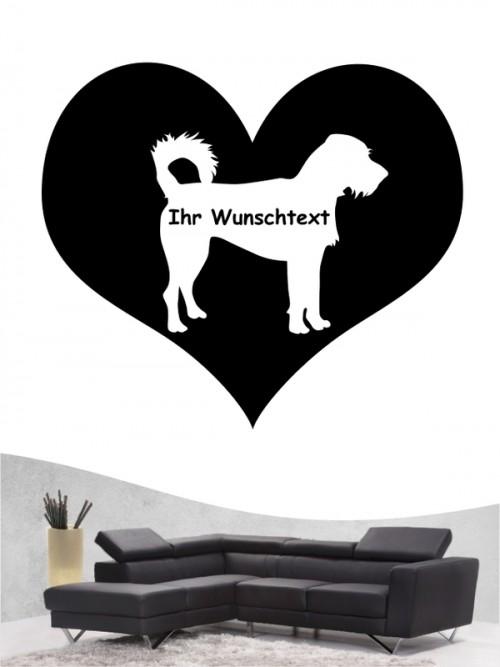 Hunde-Wandtattoo Kromfohrländer Rauhhaar 4 von Anfalas.de