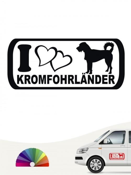 Hunde-Autoaufkleber Kromfohrländer Rauhhaar 6 von Anfalas.de
