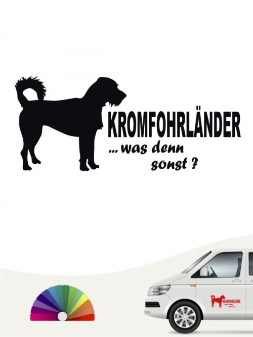 Hunde-Autoaufkleber Kromfohrländer Rauhhaar 7 von Anfalas.de