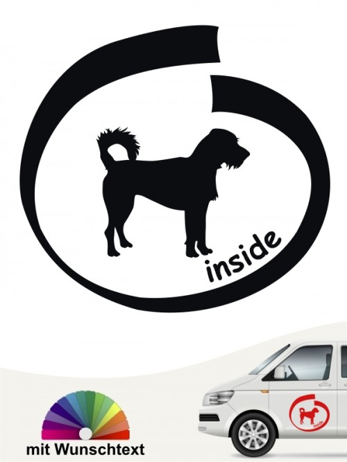 Hunde-Autoaufkleber Kromfohrländer Rauhhaar 8 von Anfalas.de