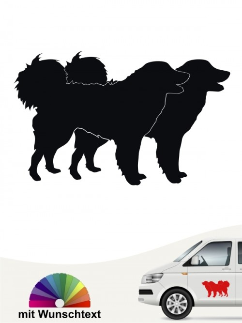 Kuvasz Hundeaufkleber mit Wunschtext von anfalas.de