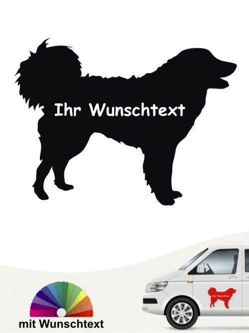 Kuvasz Autosticker mit Wunschname von anfalas.de