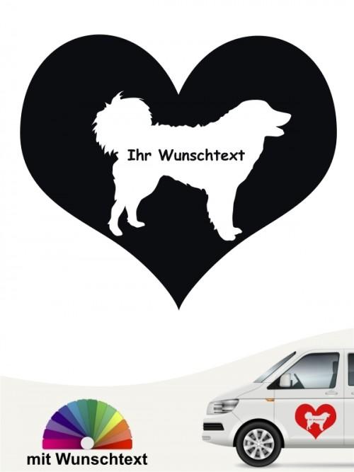 Kuvasz Herzmotiv mit Wunschname von anfalas.de