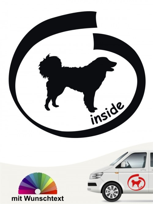 Kuvasz inside Hundeaufkleber von anfalas.de