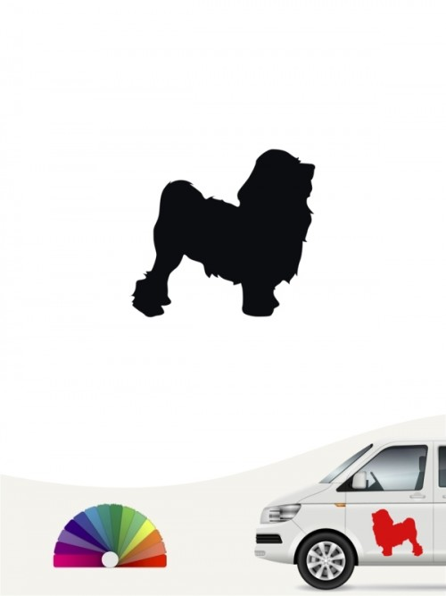 Hunde-Autoaufkleber Löwchen 1 Mini von Anfalas.de