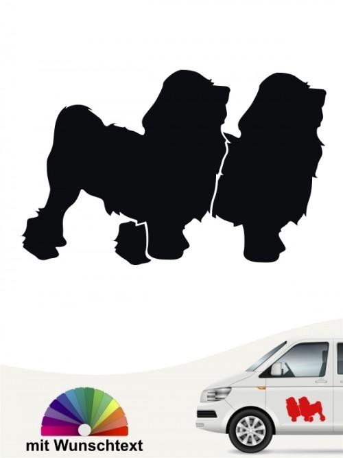 Löwchen doppel Silhouette Autoaufkleber von anfalas.de
