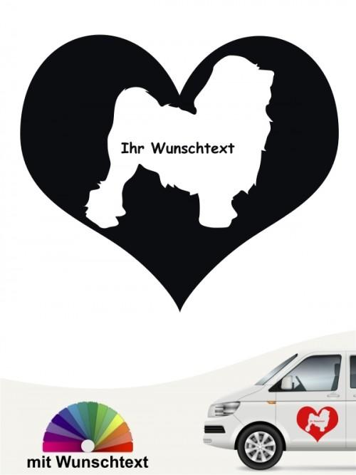 Löwchen Herzmotiv mit Wunschtext von anfalas.de