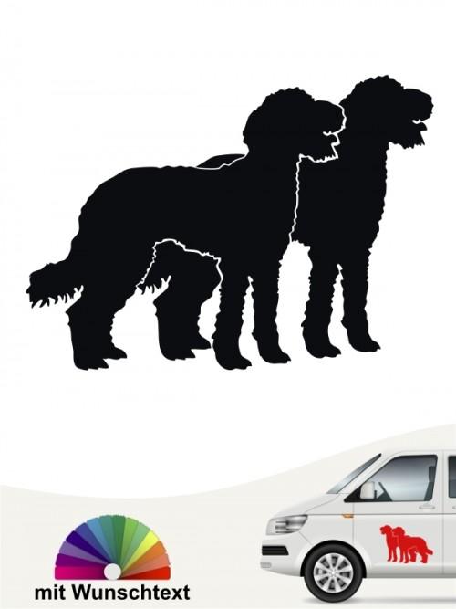 Labraddodle doppel Motiv Sticker mit Wunschtext von anfalas.de