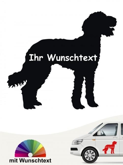 Labraddoodle Heckscheibenaufkleber mit Wunschname von anfalas.de