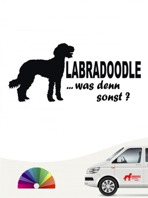 Labradoodle was denn sonst Autosticker von anfalas.de