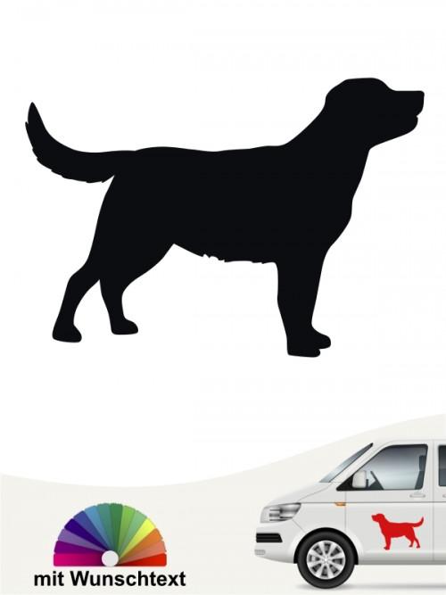 Labrador Heckscheibenaufkleber mit Wunschtext von anfalas.de