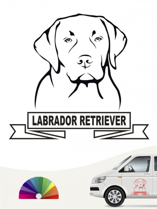 Hunde-Autoaufkleber Labrador Retriever 16a von Anfalas.de
