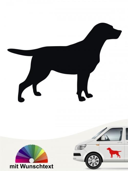 Labrador Silhouette Sticker mit Wunschtext von anfalas.de